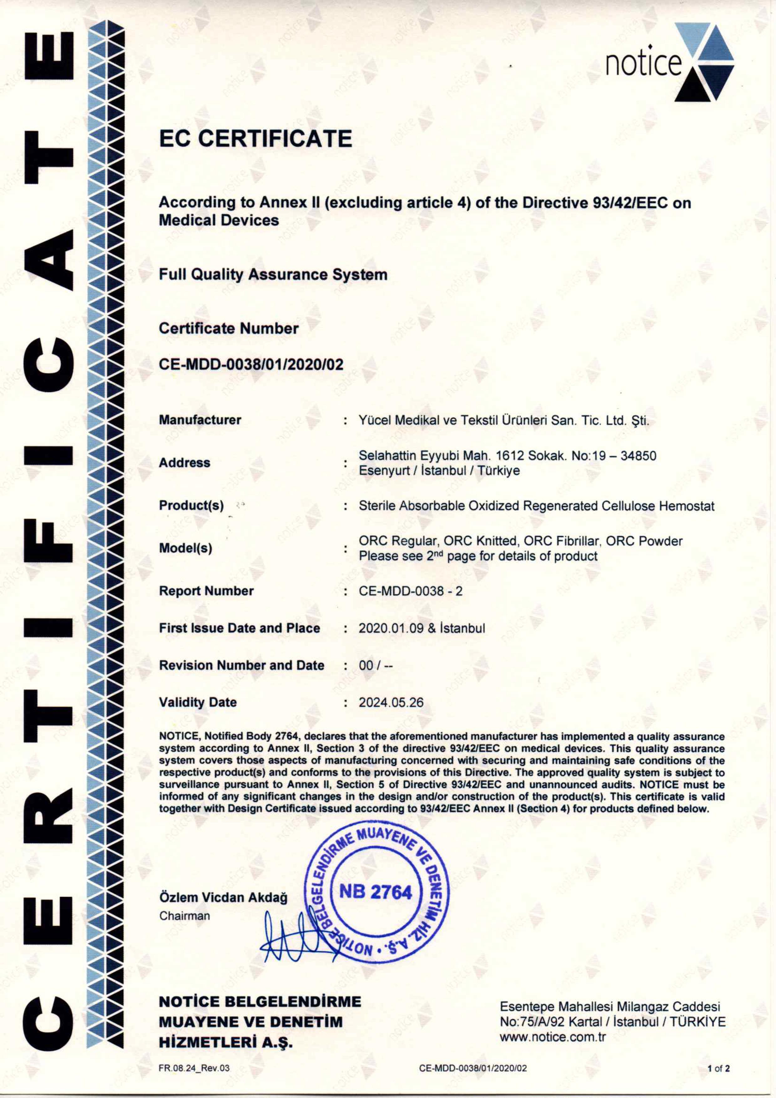 ORC EC Certificate ENG20200123-1